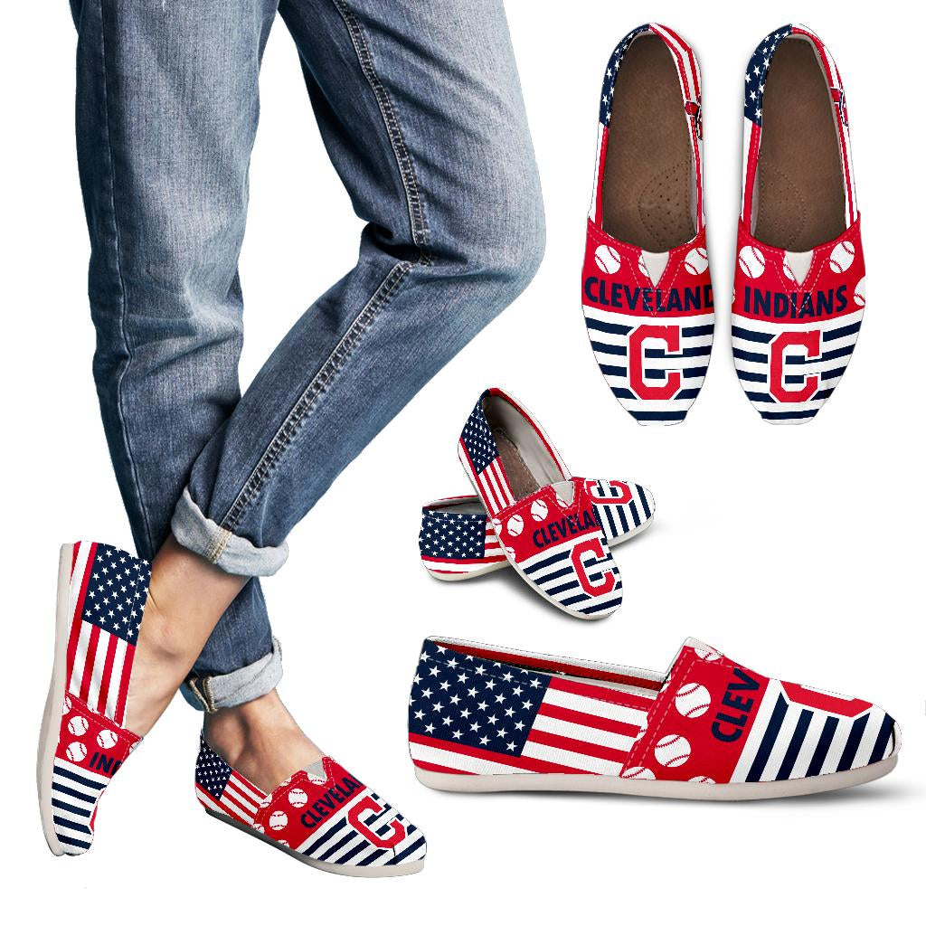 American Flag Cleveland Indians Casual Shoes