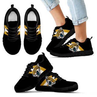 Three Colors Vertical Jacksonville Jaguars Sneakers