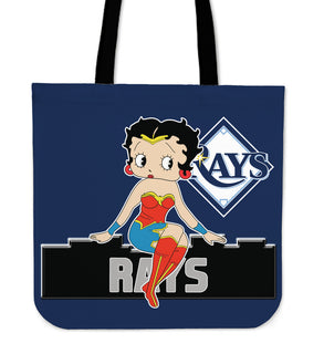 Wonder Betty Boop Tampa Bay Rays Tote Bags