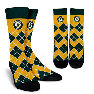 Gorgeous Oakland Athletics Argyle Socks