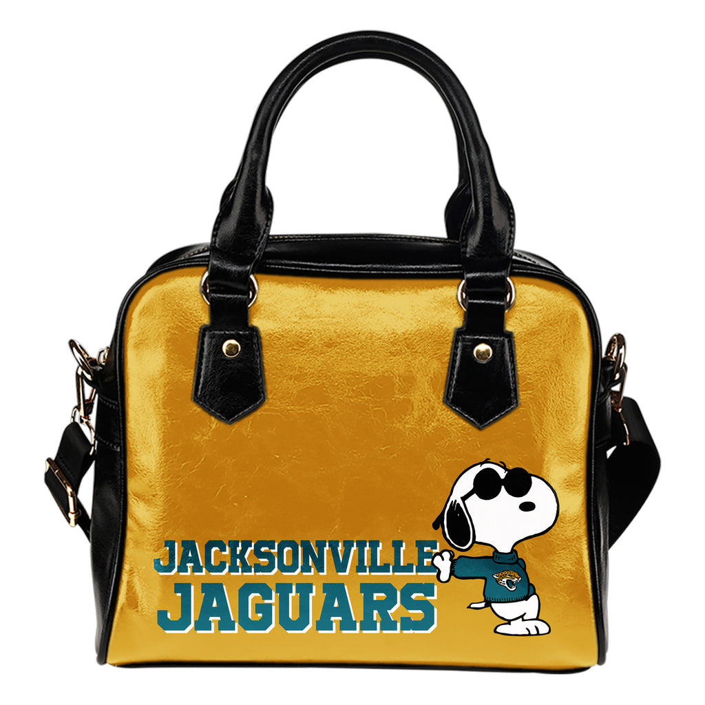 Jacksonville Jaguars Cool Sunglasses Snoopy Shoulder Handbags Women Purse