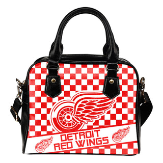 Different Fabulous Banner Detroit Red Wings Shoulder Handbags