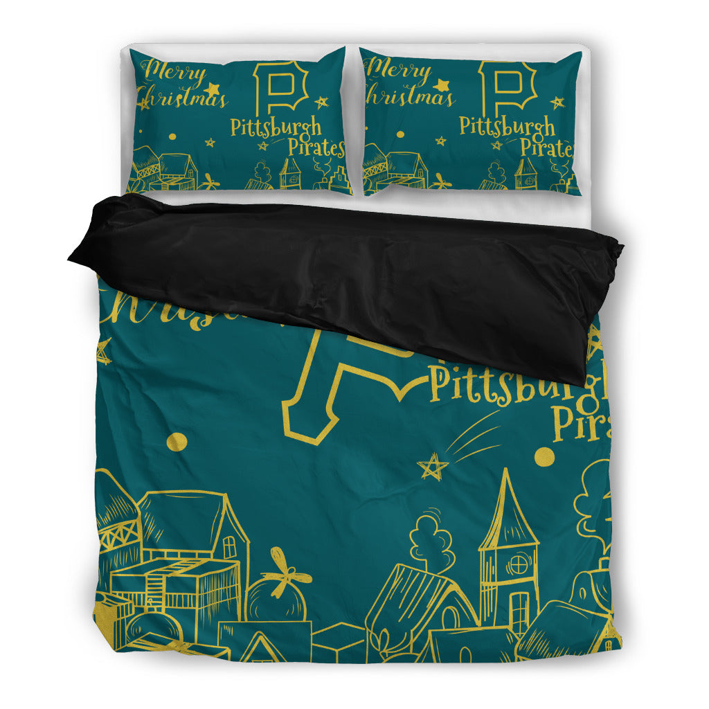 Nice Present Comfortable Christmas Pittsburgh Pirates Bedding Sets