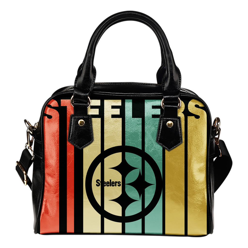 Pittsburgh Steelers Vintage Silhouette Shoulder Handbags - Best Funny Store