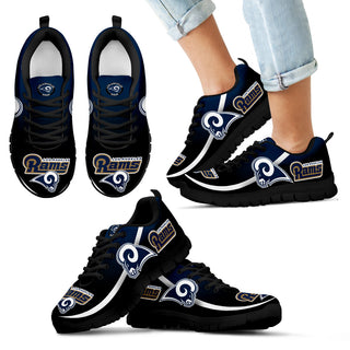 Mystery Straight Line Up Los Angeles Rams Sneakers