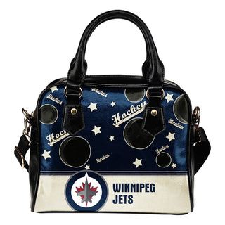 Personalized American Hockey Awesome Winnipeg Jets Shoulder Handbag