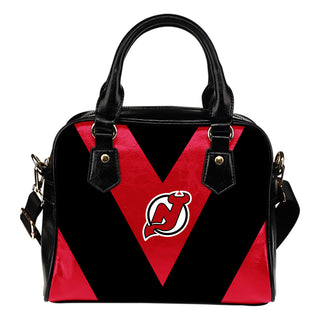 Triangle Double Separate Colour New Jersey Devils Shoulder Handbags