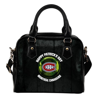Retro Scene Lovely Shining Patrick's Day Montreal Canadiens Shoulder Handbags