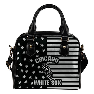 Twinkle Star With Line Chicago White Sox Shoulder Handbags