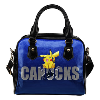 Pokemon Sit On Text Vancouver Canucks Shoulder Handbags