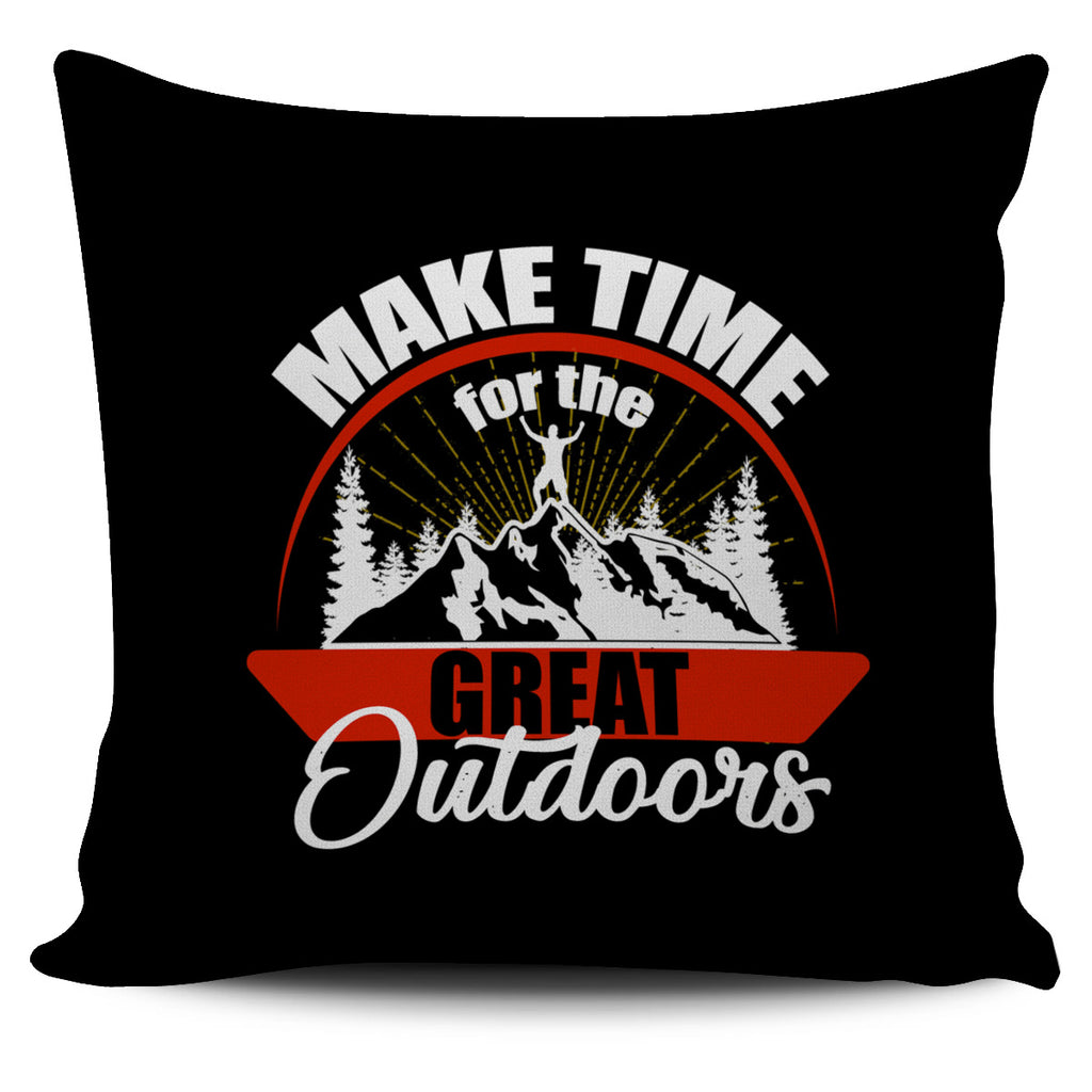 Make Time For The Great Outdoors Hiking Pillow Covers