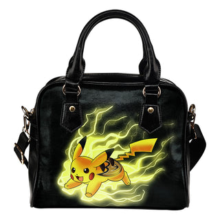 Pikachu Angry Moment Anaheim Ducks Shoulder Handbags