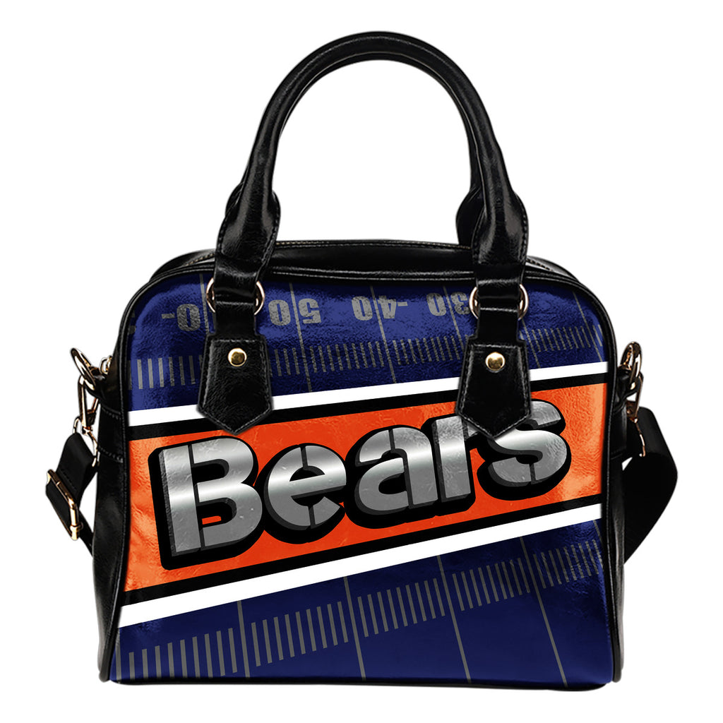 Chicago Bears Silver Name Colorful Shoulder Handbags