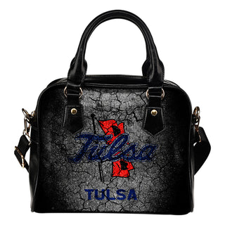 Wall Break Tulsa Golden Hurricane Shoulder Handbags Women Purse