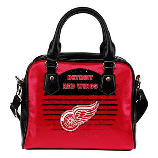 Back Fashion Round Charming Detroit Red Wings Shoulder Handbags