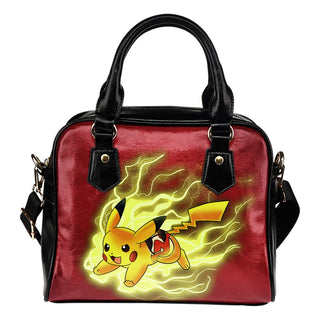 Pikachu Angry Moment New Jersey Devils Shoulder Handbags
