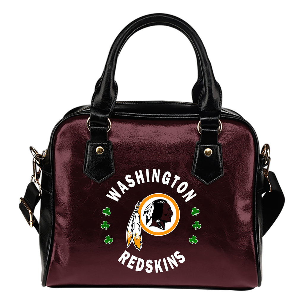 Central Beautiful Logo Circle Lucky Leaf Washington Redskins Shoulder Handbags