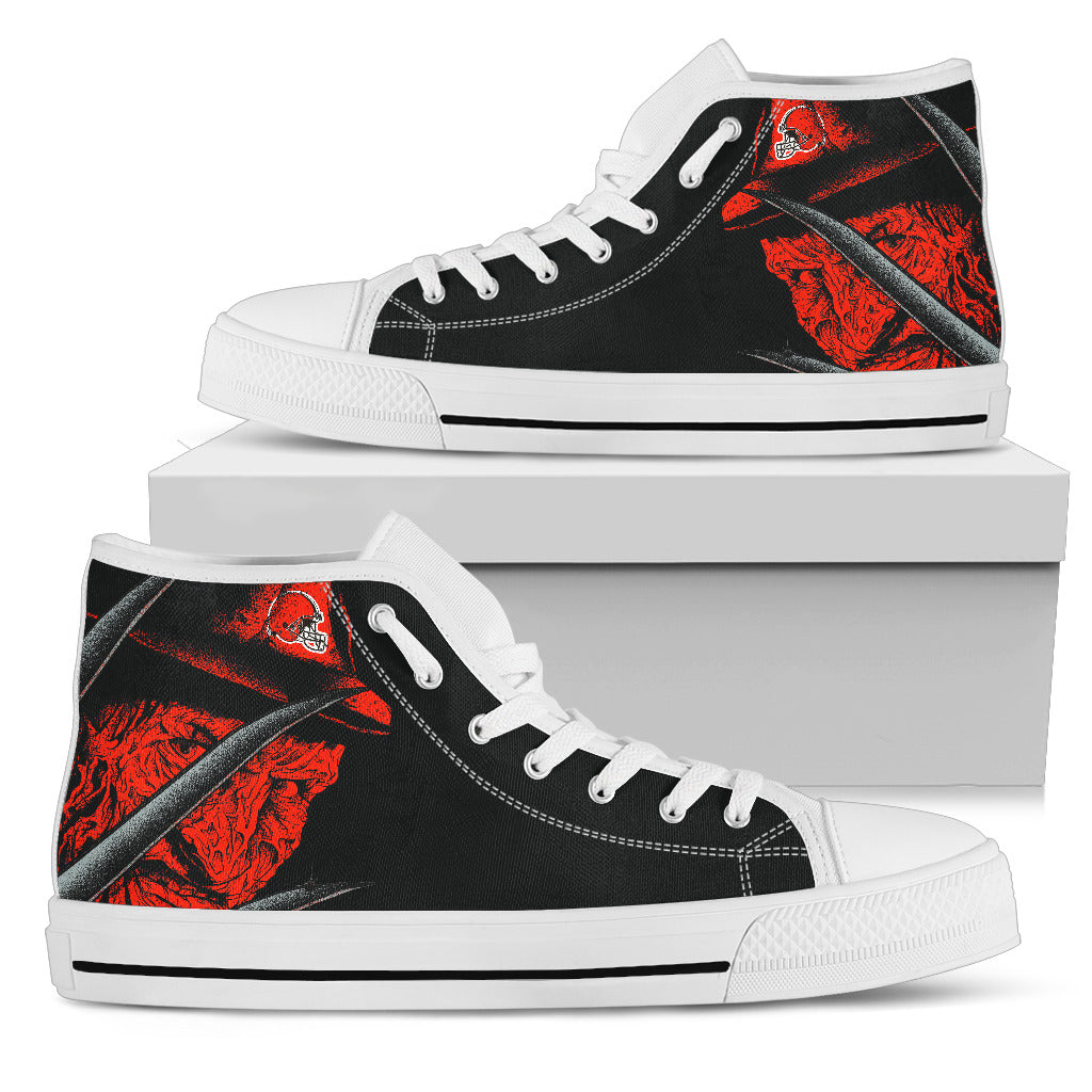 Cleveland Browns Nightmare Freddy Colorful High Top Shoes
