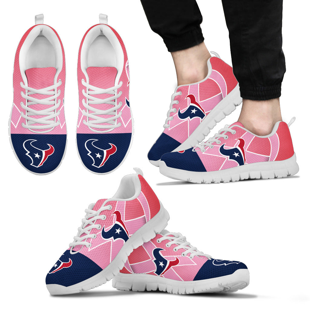 Houston Texans Cancer Pink Ribbon Sneakers