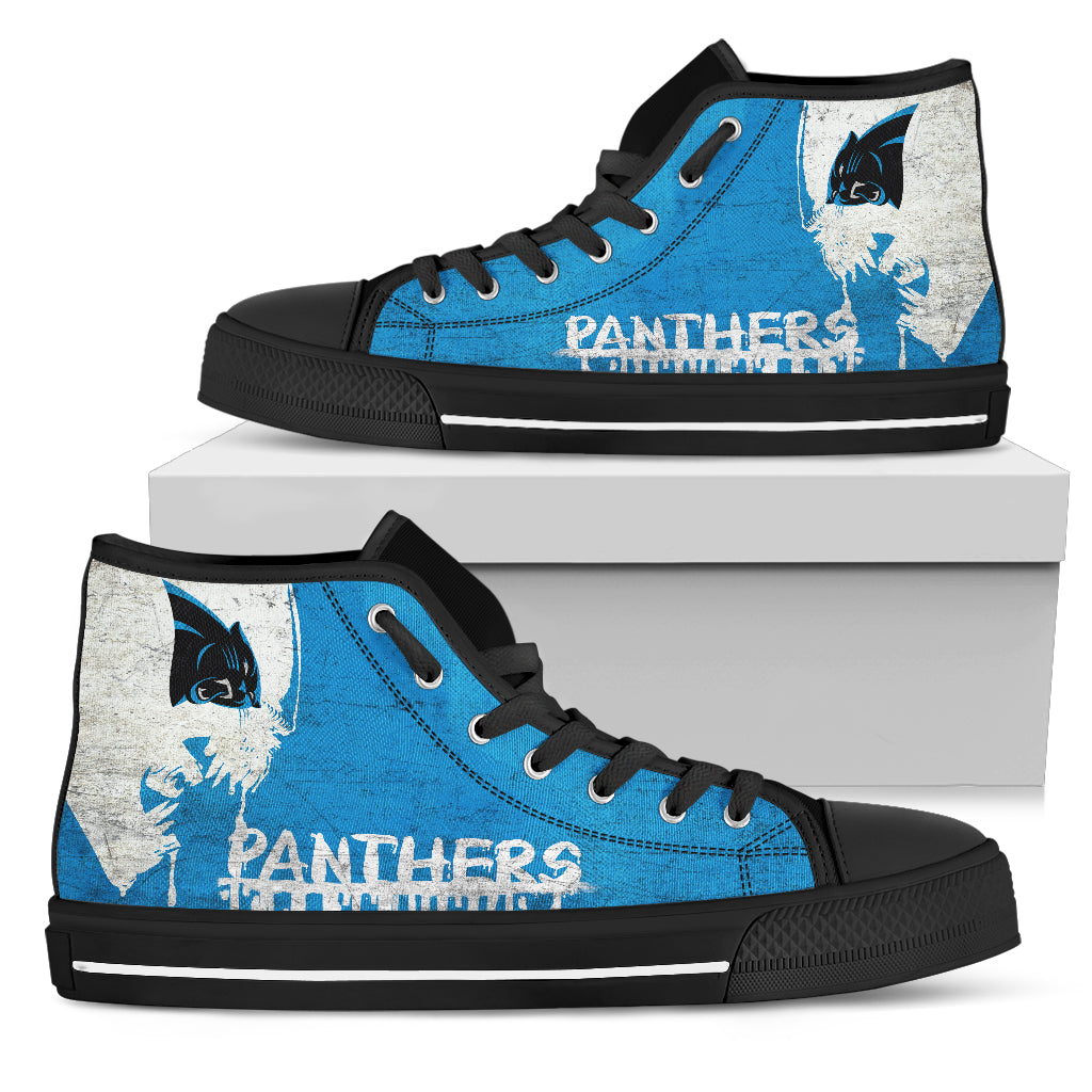 12ab87d0 Alien Movie Carolina Panthers High Top Shoes