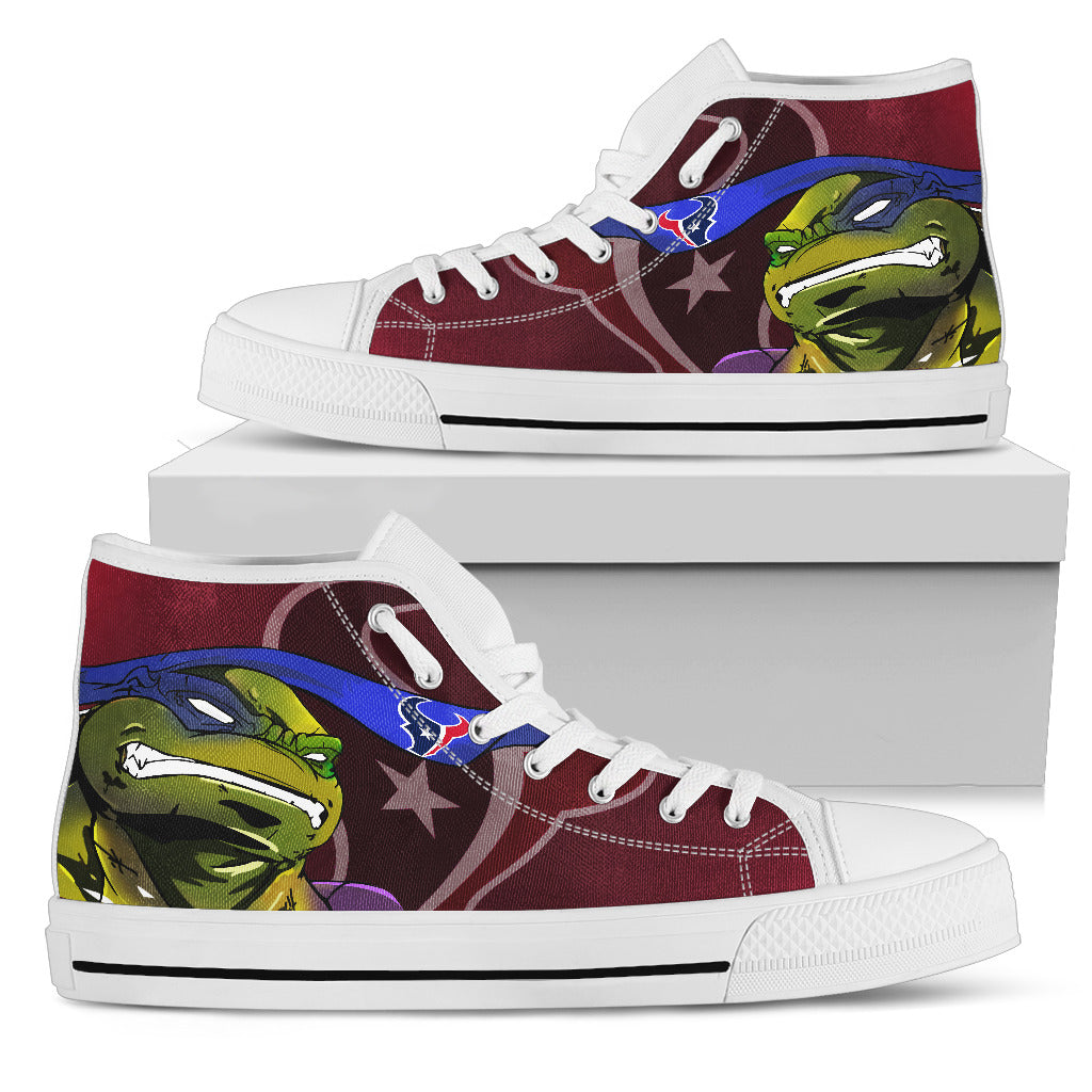 Turtle Houston Texans Ninja High Top Shoes