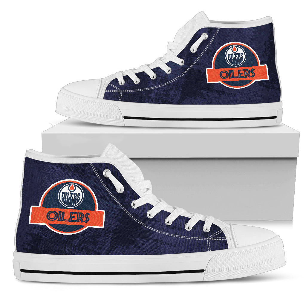 Jurassic Park Edmonton Oilers High Top Shoes