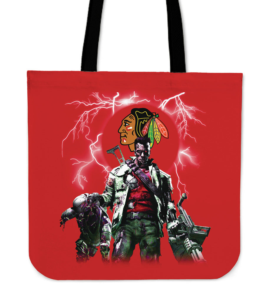 Chicago Blackhawks Guns Tote Bag - Best Funny Store