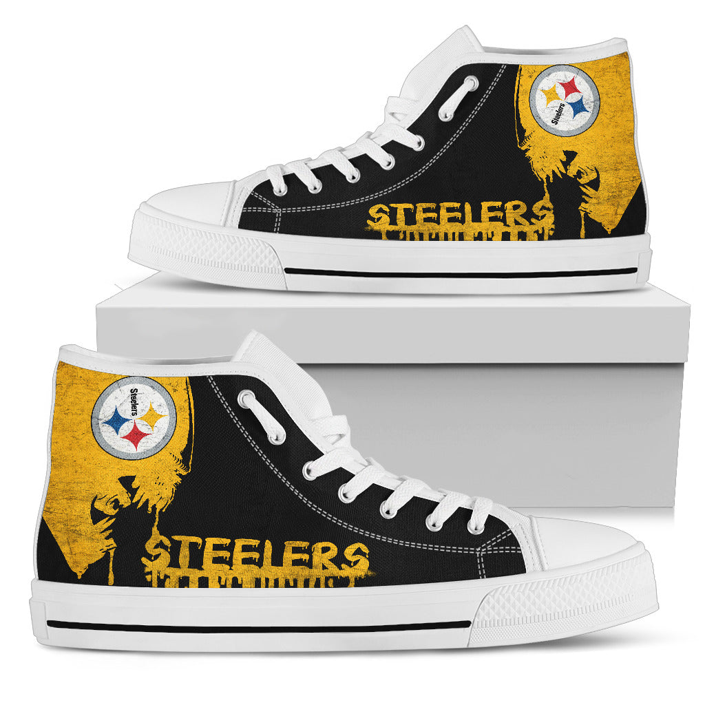 Alien Movie Pittsburgh Steelers High Top Shoes
