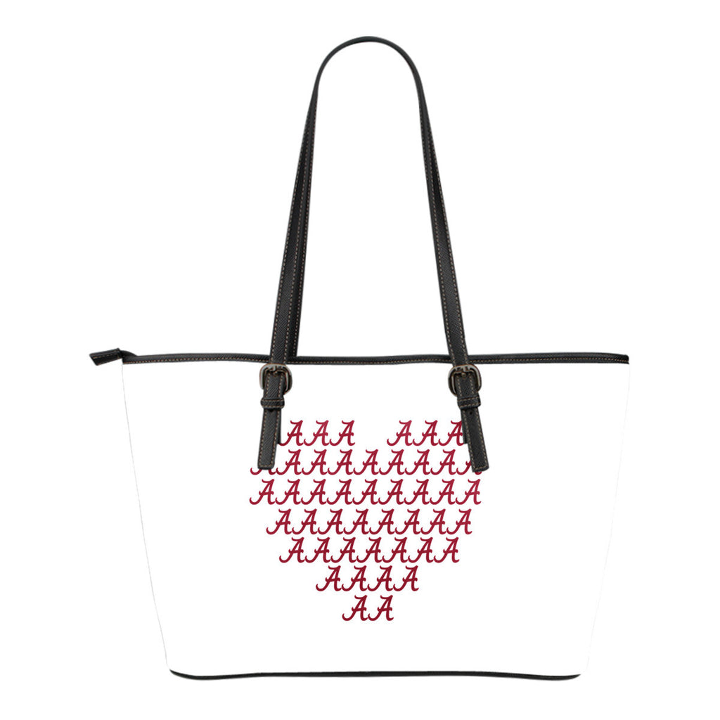 Alabama Crimson Tide Heart Logo Leather Bags - Best Funny Store