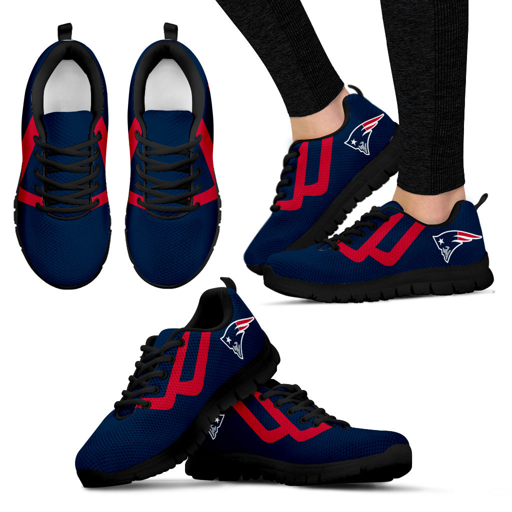 Line Bottom Straight New England Patriots Sneakers