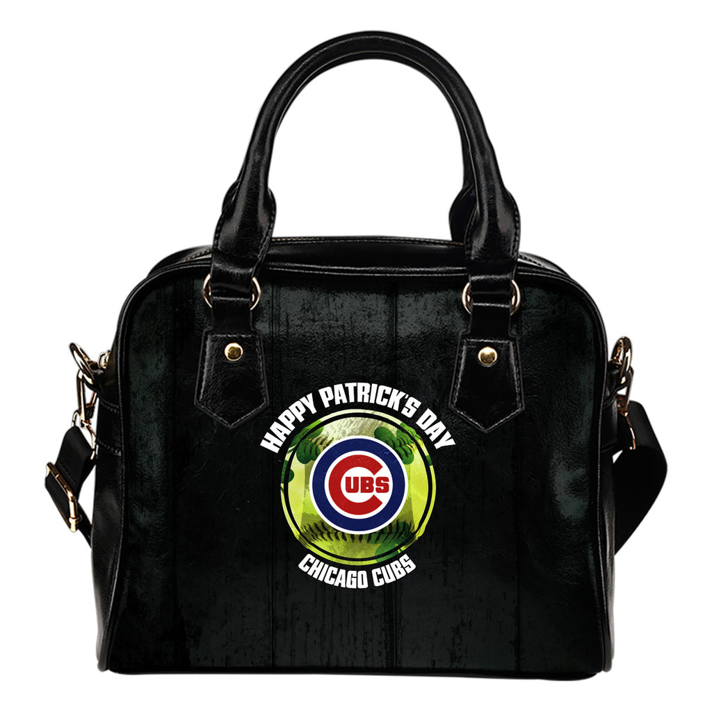 Retro Scene Lovely Shining Patrick's Day Chicago Cubs Shoulder Handbags