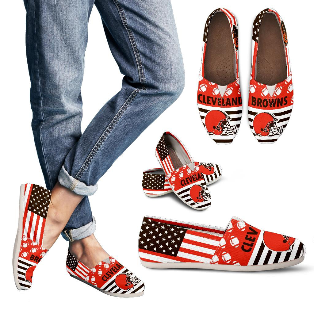 American Flag Cleveland Browns Casual Shoes