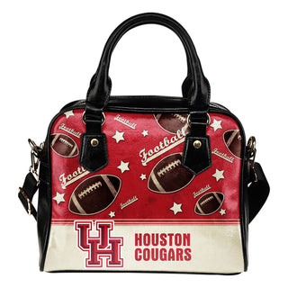Personalized American Football Awesome Houston Cougars Shoulder Handbag