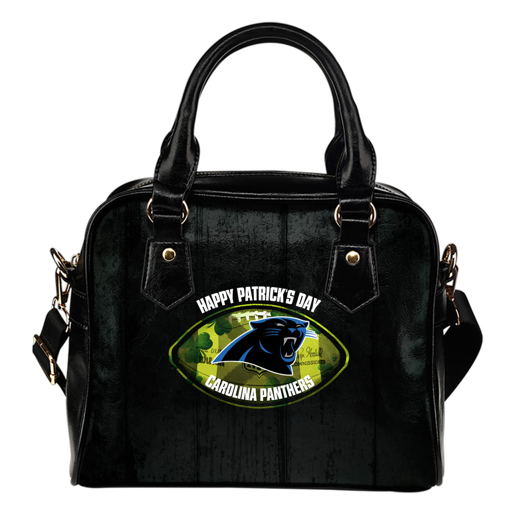 Retro Scene Lovely Shining Patrick's Day Carolina Panthers Shoulder Handbags