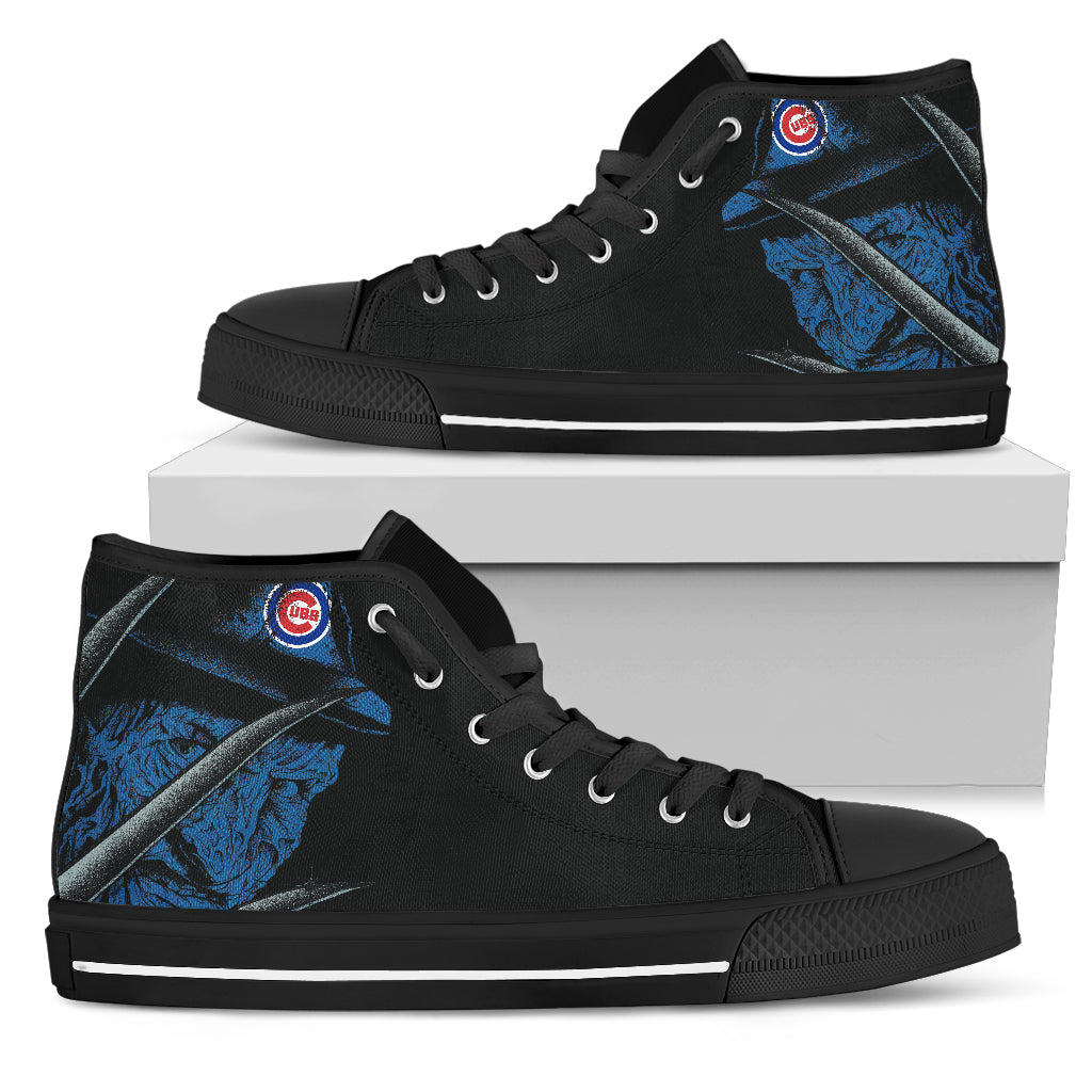 Chicago Cubs Nightmare Freddy Colorful High Top Shoes