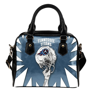 Saw Tooth Border Wonderful Hand Up Tennessee Titans Shoulder Handbag