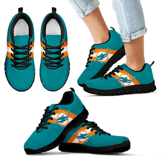 Three Colors Vertical Miami Dolphins Sneakers
