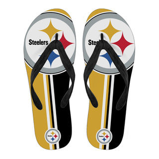 Pittsburgh Steelers Fan Gift Two Main Colors Flip Flops