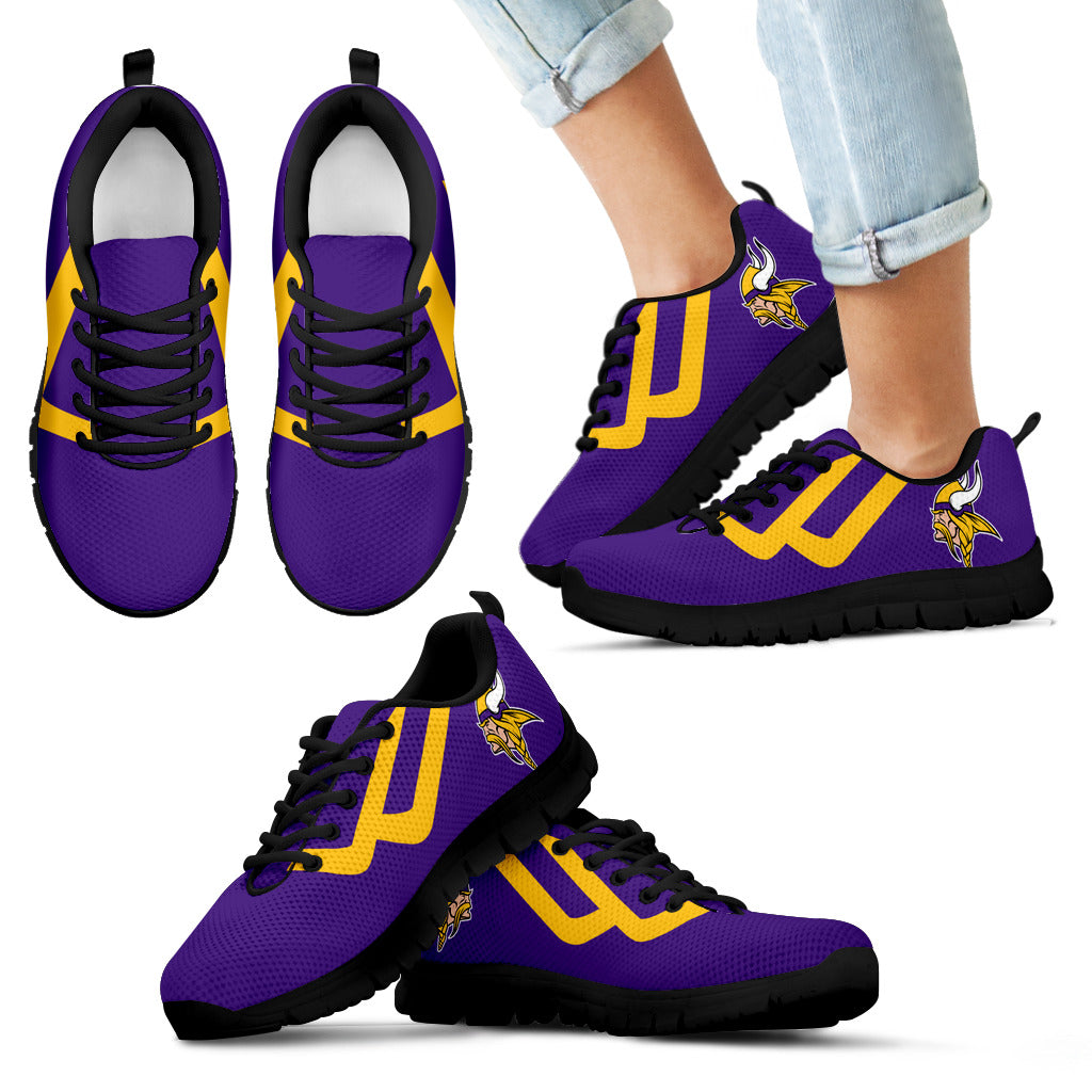 Line Bottom Straight Minnesota Vikings Sneakers