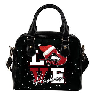Love Word Christmas Sweet Northern Illinois Huskies Shoulder Handbags