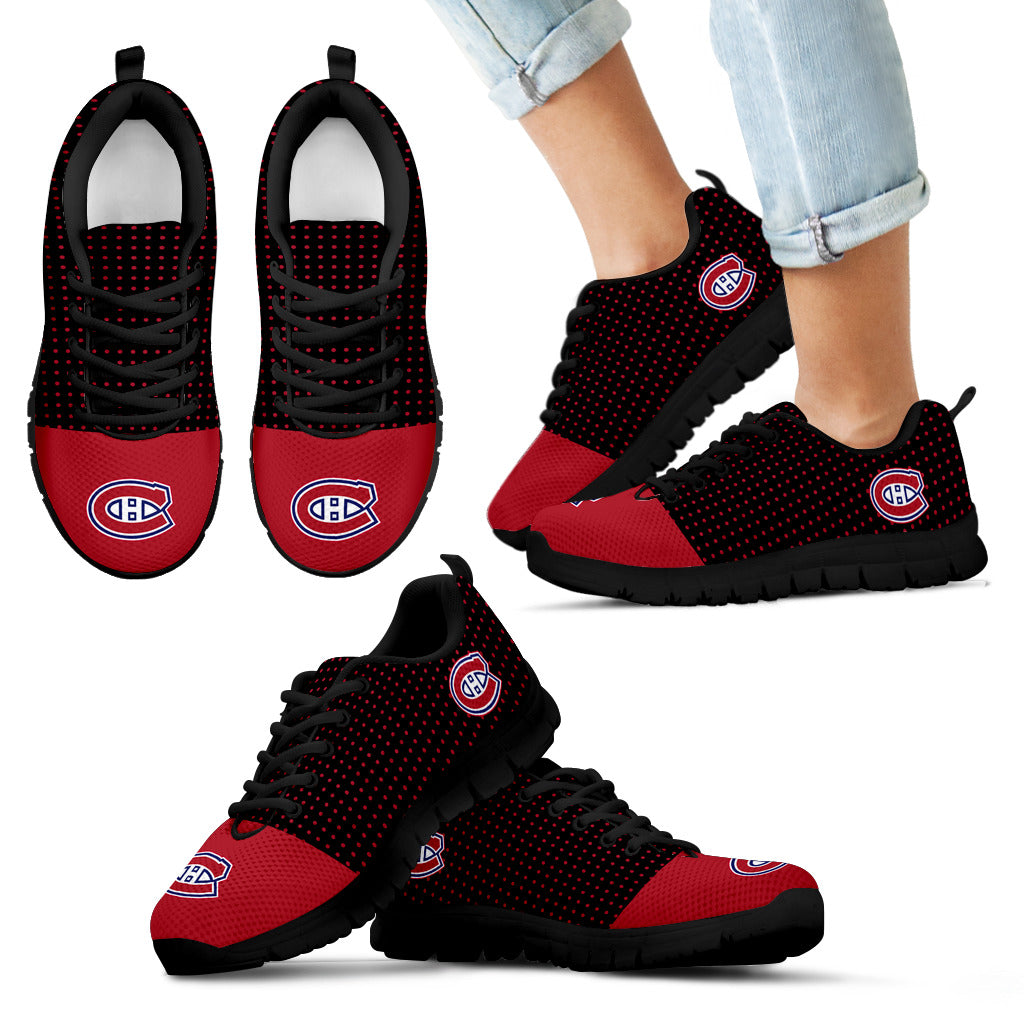quality design 24cc8 45ec6 Tiny Cool Dots Background Mix Lovely Logo Montreal Canadiens Sneakers