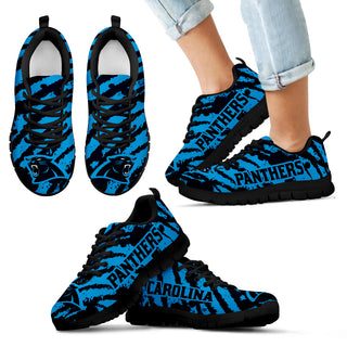 Stripes Pattern Print Carolina Panthers Sneakers V3