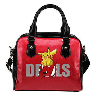 Pokemon Sit On Text New Jersey Devils Shoulder Handbags