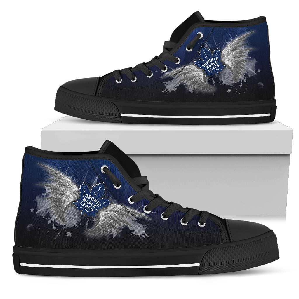Angel Wings Toronto Maple Leafs High Top Shoes
