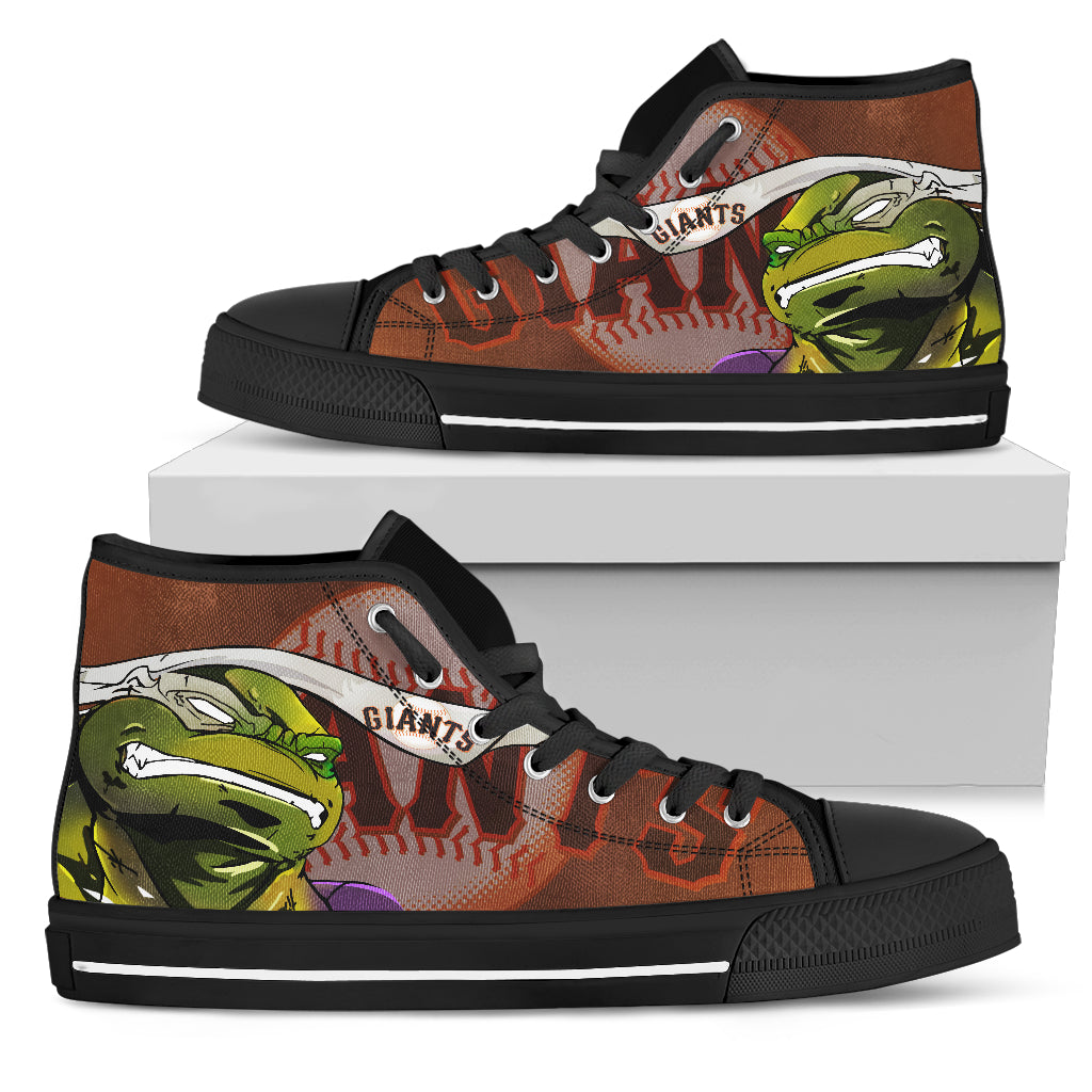 Turtle San Francisco Giants Ninja High Top Shoes