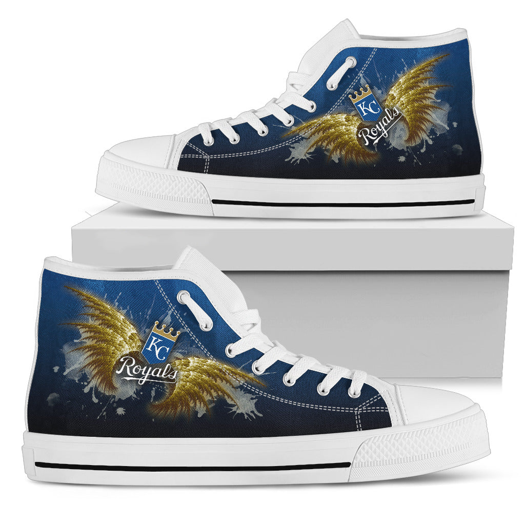 Angel Wings Kansas City Royals High Top Shoes