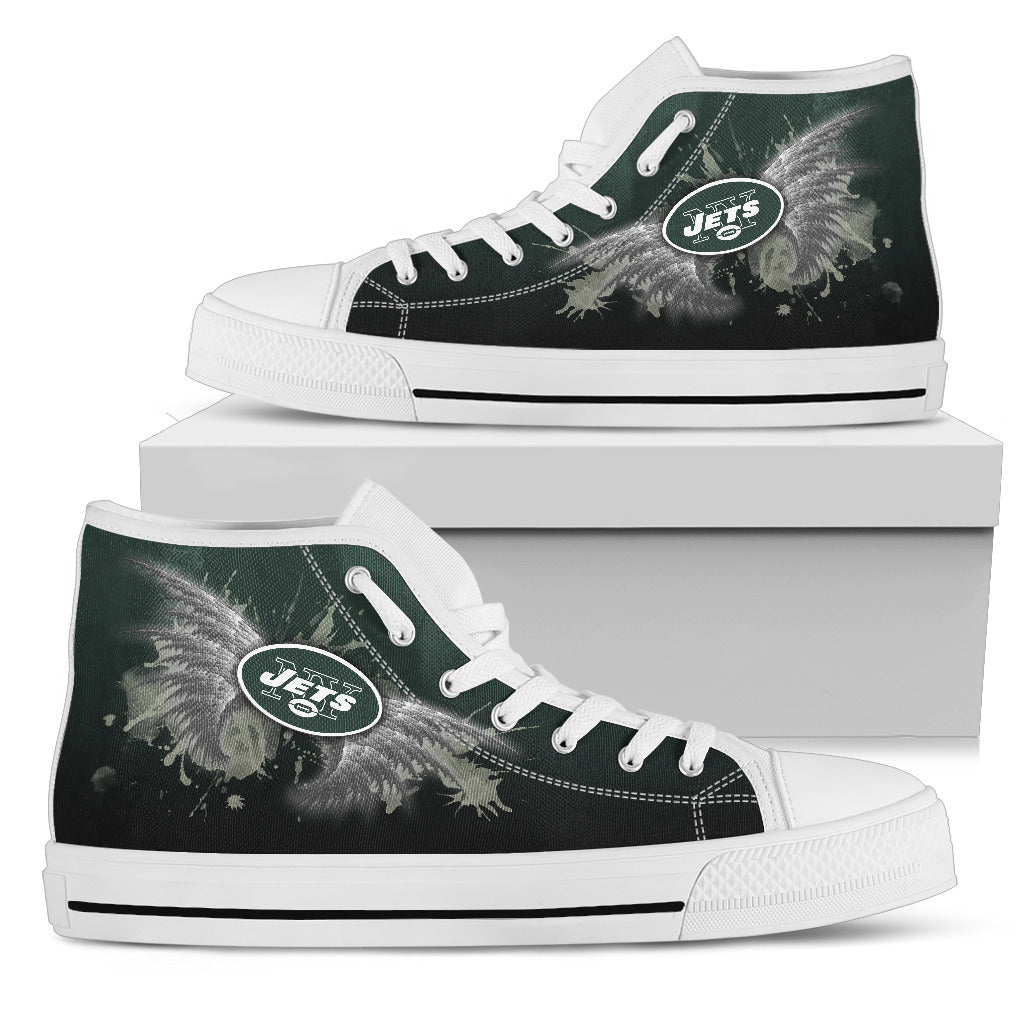 Angel Wings New York Jets High Top Shoes