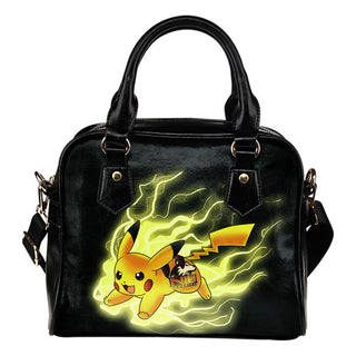 Pikachu Angry Moment Northern Illinois Huskies Shoulder Handbags