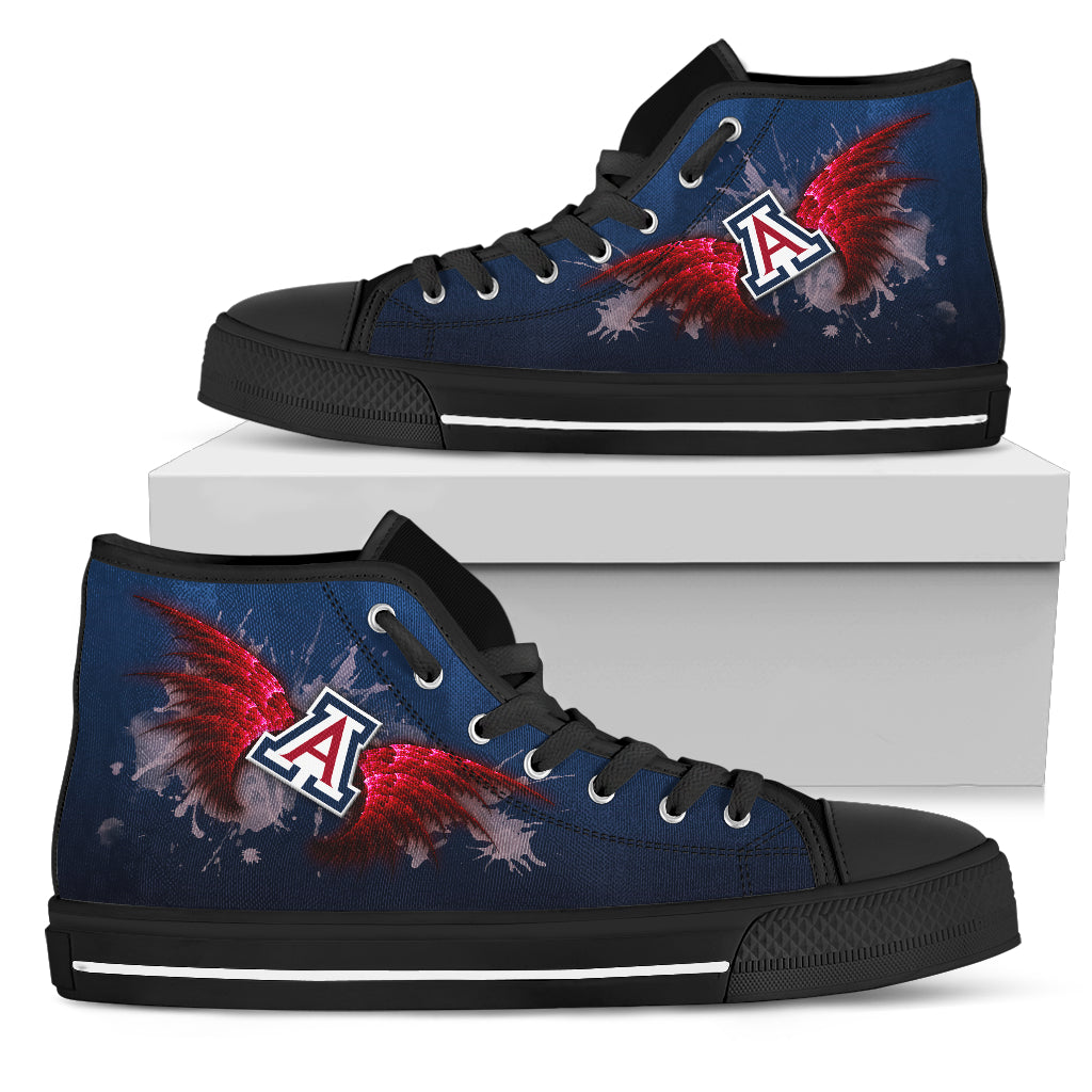 Angel Wings Arizona Wildcats High Top Shoes
