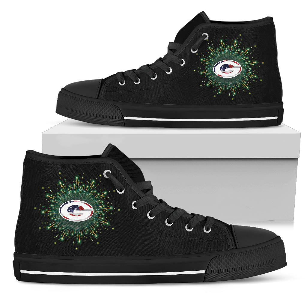 Fireworks Green Bay Packers High Top Shoes